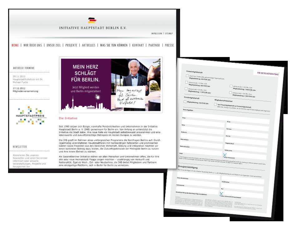 Imagekampage IHB - Website/Aufnahmeantrag