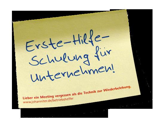 """Kampagne """"Betriebshelfer"""" - Erinnerungshafti auf dem Anschreiben"""