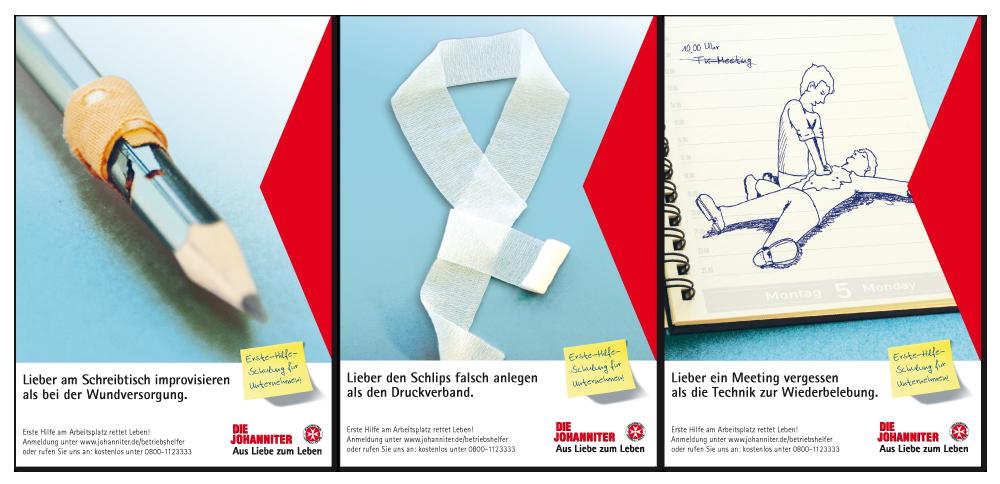"Kampagne ""Betriebshelfer"" - Anzeigenmotive"