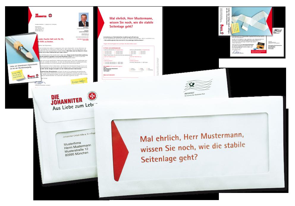 """Kampagne """"Betriebshelfer"""" - Anschreiben im Panoramakuvert/Nachfasspostkarte"""
