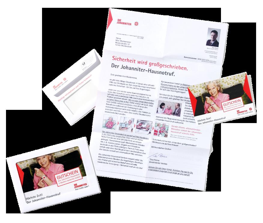 "Kampagne ""Hausnotruf"" - A3 Mailing im C6 Kuvert"
