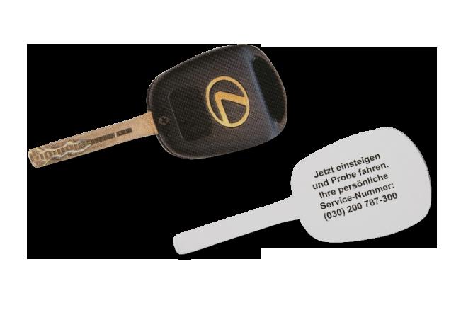 Kunde: Lexus Forum Berlin / Maßnahme: Stufe 2 – Mailingverstärker (Papier)Autoschlüssel