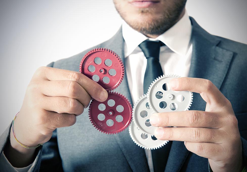 Businessman and teamwork concept