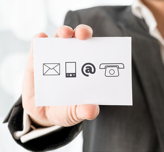 Zu aktuellen Adressen gehören neben der Anschrift auch Daten wie E-Mail Adressen, Telefon und Mobillfunkrufnummern sowie Ansprechpartner in Unternehmen