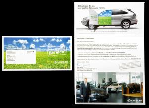 Der clevere Selfmailer ist Umschlag und Inhalt in Einem - so wird schon die Verpackung zur Werbebotschaft